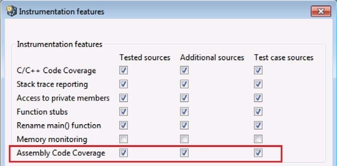 Assembly Code Coverage - Parasoft C++test 10 3 3 (Eclipse