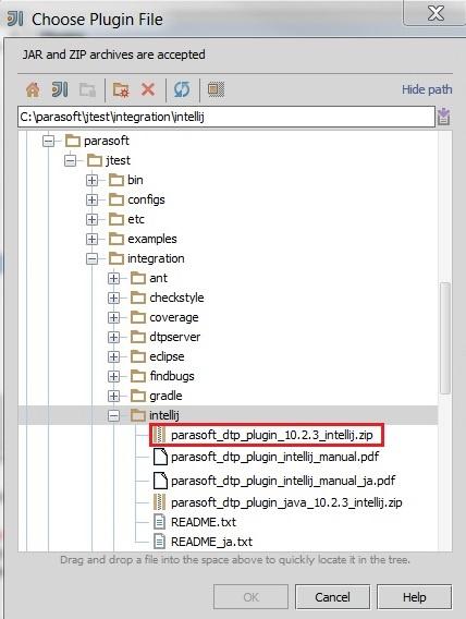 Parasoft Plugin for IntelliJ IDEA - Parasoft Jtest DTP