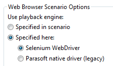 About the Selenium WebDriver Engine - SOAtest and Virtualize 9 10 3