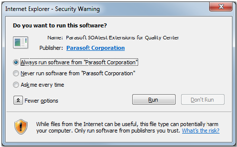 Using HP ALM and HP Quality Center with SOAtest - SOAtest and