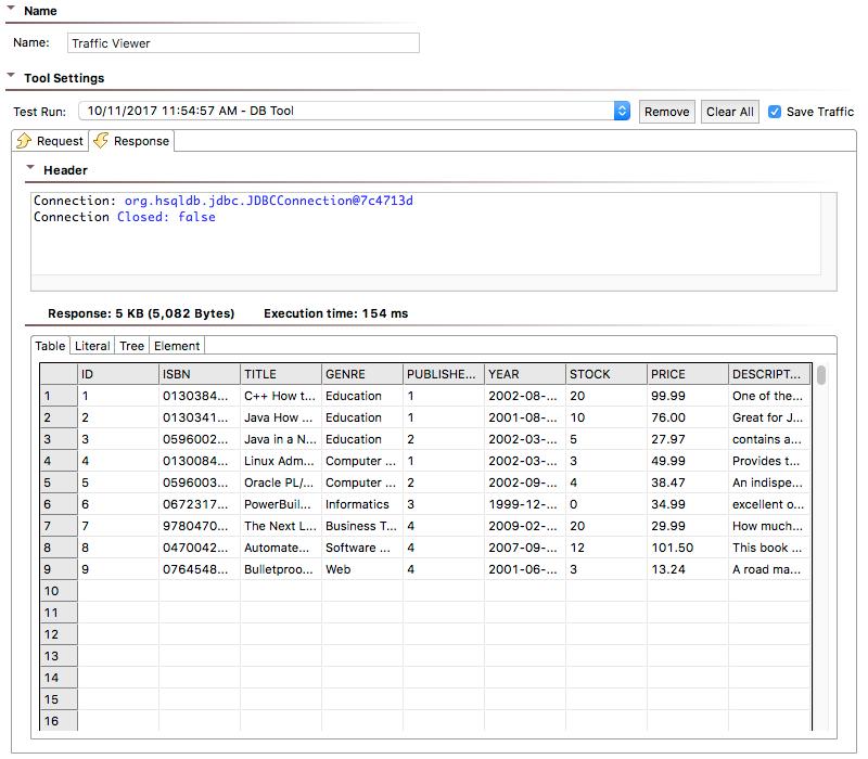 DB - SOAtest and Virtualize 9 10 3 - Parasoft Documentation