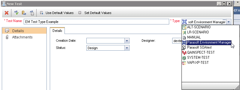 Environment Manager Test Type for HP ALM Quality Center 1 0