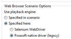 About the Selenium WebDriver Engine - SOAtest 9 10 3