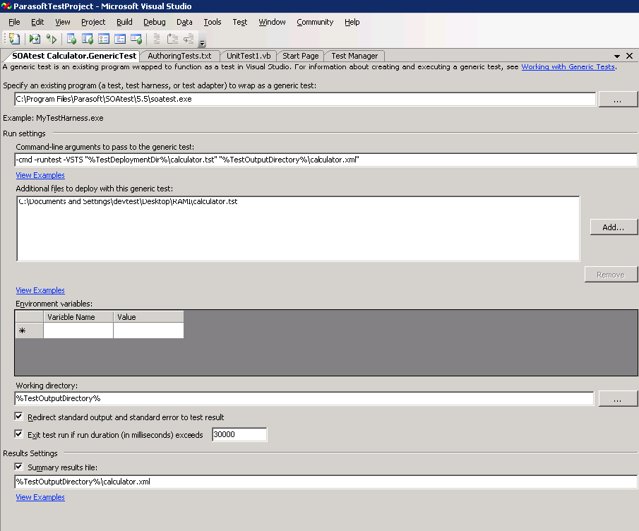 Using Microsoft with SOAtest - SOAtest 9 10 3 - Parasoft