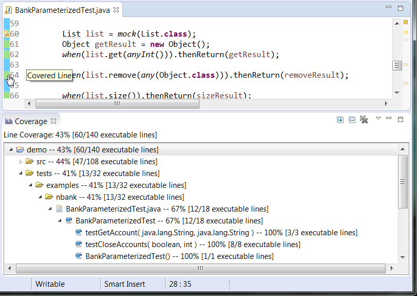 Collecting Unit Test Coverage in Eclipse - Parasoft Jtest