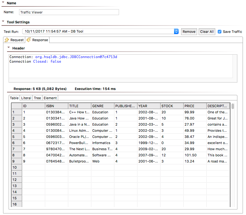 DB - SOAtest 9 10 5 - Parasoft Documentation