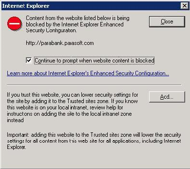 Configuring Internet Explorer Settings - SOAtest and