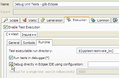 Exercise 15 - Debugging Unit Tests With GDB - Parasoft C++test 10 3